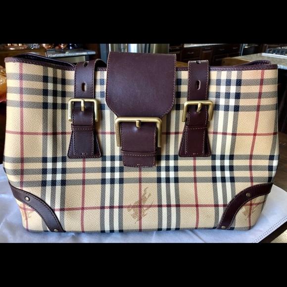 33d175014 Burberry Handbags - BURBERRY, Haymarket Check Coated Canvas Tote Bag